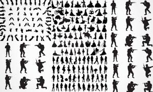 手势动作与人物等剪影设计矢量素材
