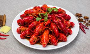 五香小龙虾美食菜品摄影图片