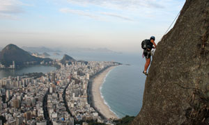 城市风光与攀岩人物等摄影高清图片