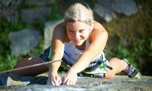 攀岩极限运动美女人物摄影高清图片