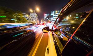 夜晚繁华城市交通风光摄影高清图片