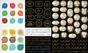 金色質感促銷打折標簽創意矢量素材