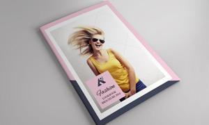 时尚人物摄影等主题版式矢量源文件