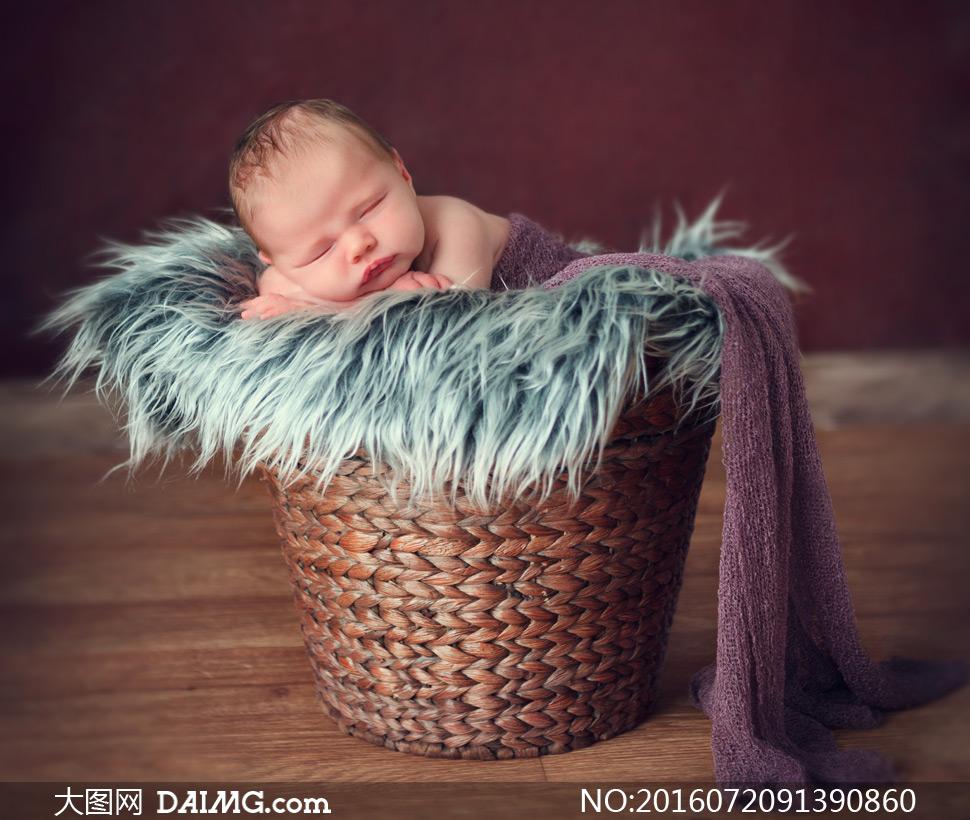 图片素材近景特写微距儿童宝宝小宝贝可爱小宝宝睡觉睡着入睡趴着毛绒