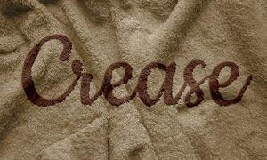 毛巾上的艺术字设计PS教程素材