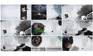 中国风龙井茶画册设计模板PSD源文件