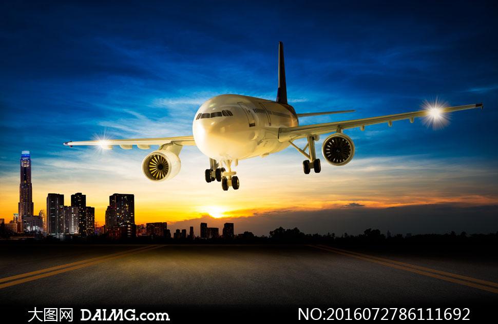 高清大图图片素材摄影交通运输飞机客机