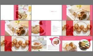 时尚西式点心画册设计模板PSD素材