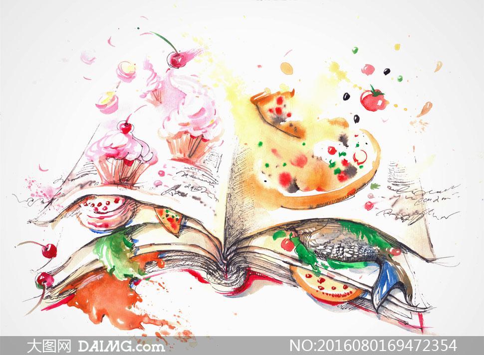 关 键 词: 高清大图图片素材美术绘画水彩画艺术创意设计插画美食