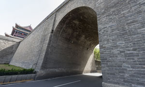 城市古建筑与城门特写摄影高清图片