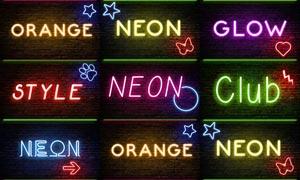 唯美的霓虹光效艺术字PS样式