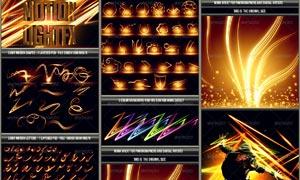 各种创意图形发光效果PSD素材
