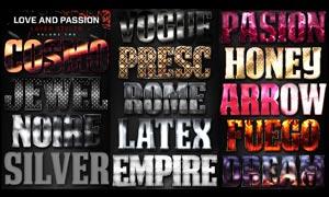 爱情和激情主题风格字体PS样式V3