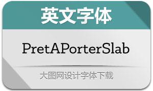 PretAPorterSlab系列9款字体