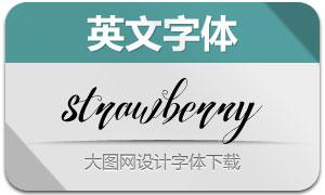 Strawberry系列10款英文字体