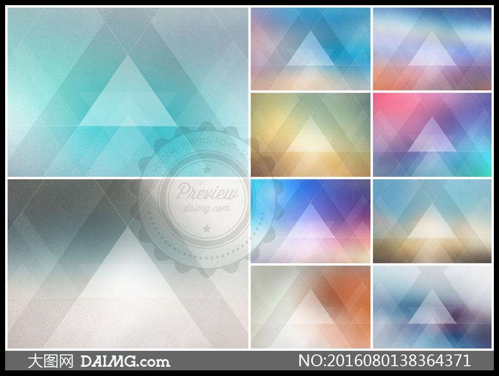 背景几何抽象线条缤纷五彩多彩炫彩三角形朦胧模糊