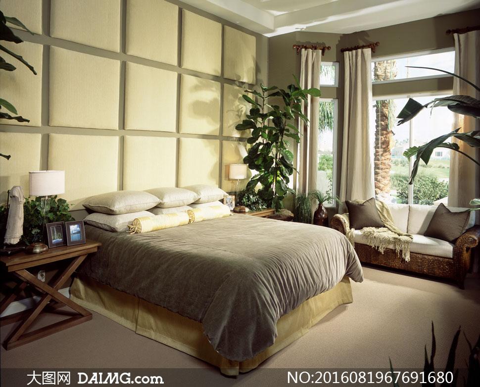 欧式豪华客厅卧室内景摄影高清