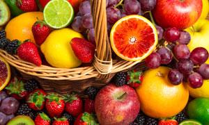 草莓苹果与橙子葡萄等摄影高清图片
