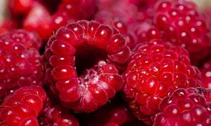 红色的覆盆子水果特写摄影高清图片