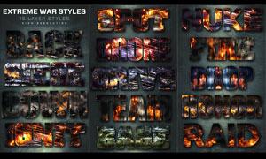 16款超酷的战争火花背景PS样式V2