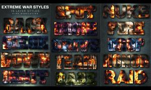16款超酷的战争火花背景PS样式V3