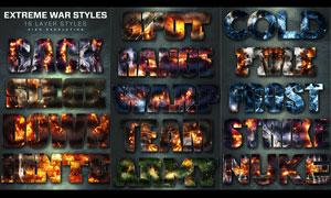 16款超酷的战争火花背景PS样式V4
