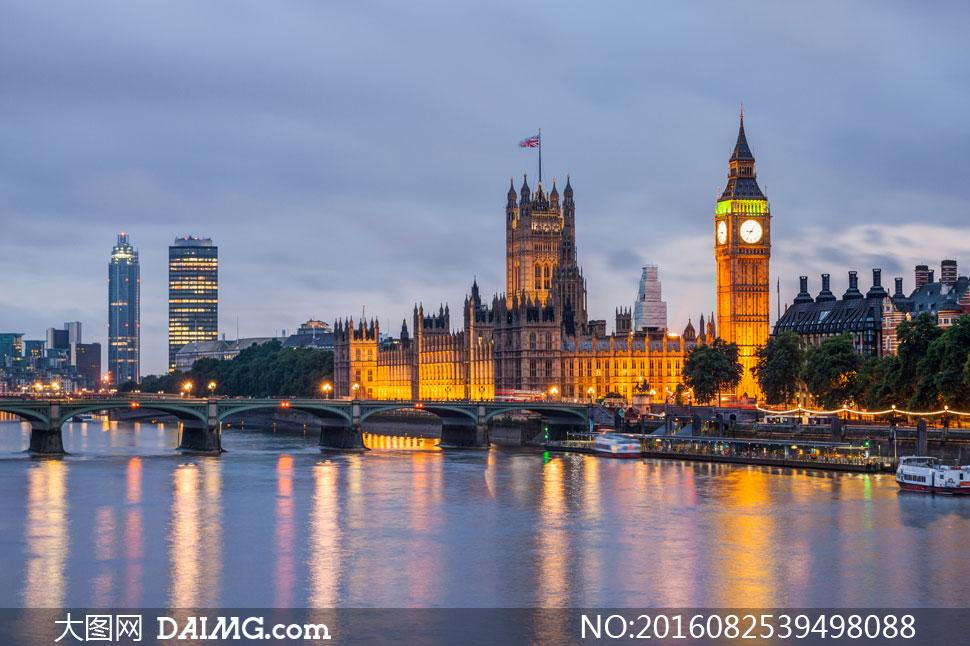英国伦敦国会会议厅等摄影高清图片