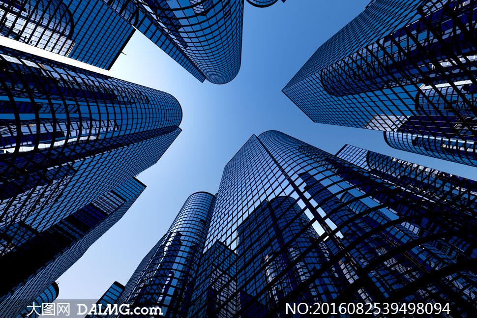 风景风光景观城市建筑物蓝天天空大楼楼房高楼大厦商务楼写字楼仰拍