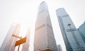 上海林立商务楼宇风光摄影高清图片