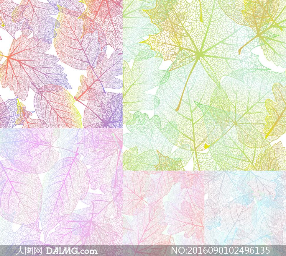 关 键 词: 矢量素材矢量图设计素材秋天秋季树叶叶子叶脉缤纷多彩
