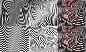黑白效果平面构成创意设计矢量素材图片