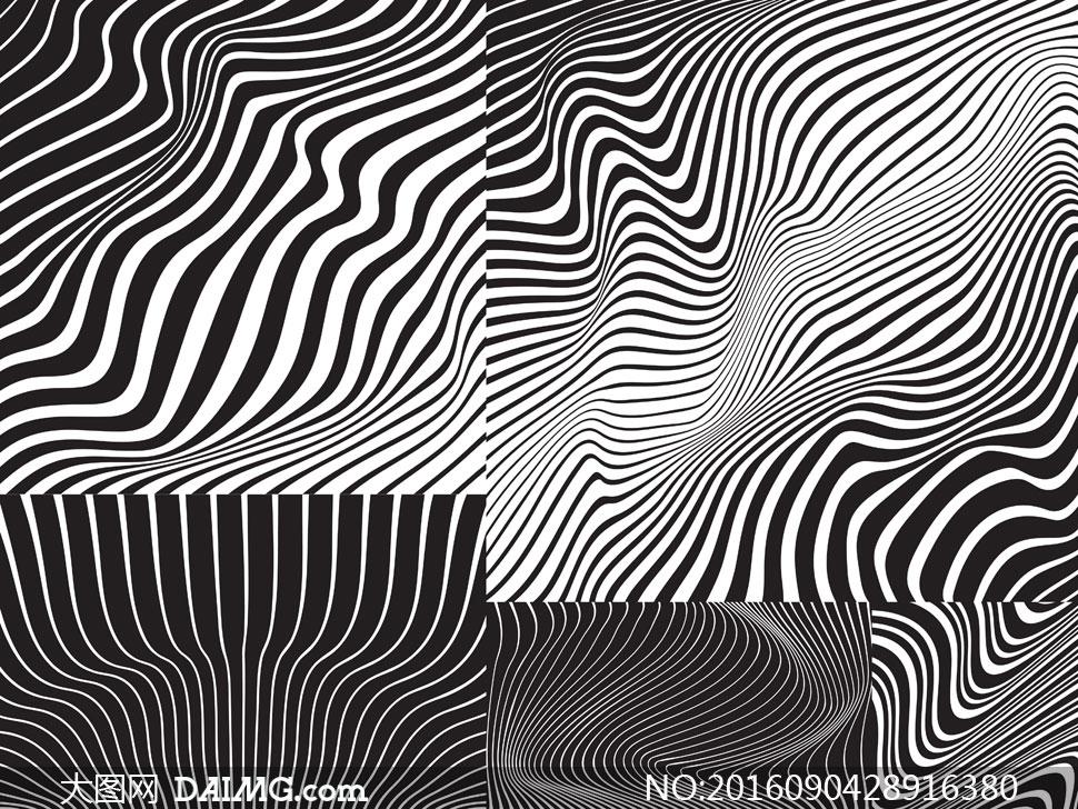黑白效果平面构成创意设计矢量素材