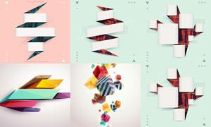 缤纷立体抽象元素创意设计矢量素材