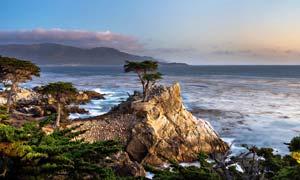 海边小岛美丽风光摄影图片