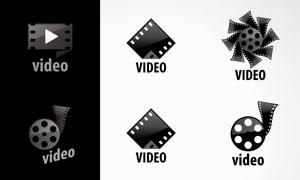 胶片元素视频主题标志矢量素材集V3