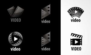 胶片元素视频主题标志矢量素材集V4