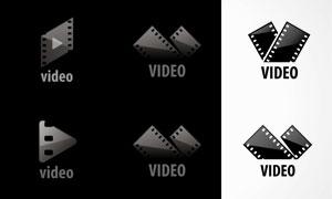 胶片元素视频主题标志矢量素材集V5