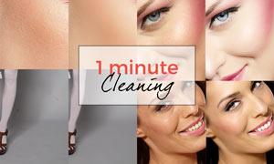 人像皮肤后期美容磨皮处理PS动作
