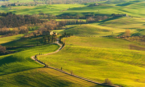 土地田园自然风景鸟瞰摄影高清图片