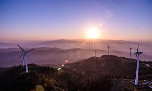 仙居顶日出美景摄影图片