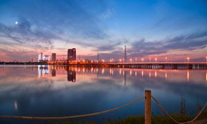 武汉金银湖美丽夜景摄影图片