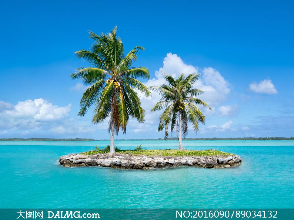 白云云彩云层多云岛屿小岛