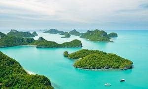 美丽的海岛景色摄影图片