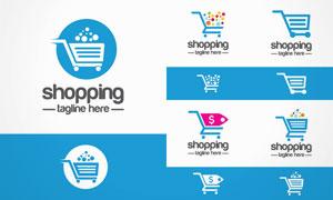 购物车消费主题图标创意矢量素材V1