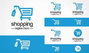 购物车消费主题图标创意矢量素材V2