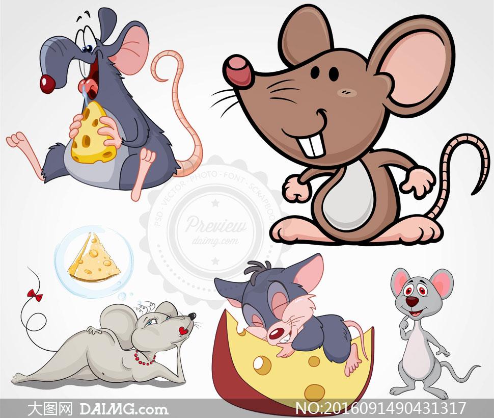 鼠动物矢量素材v1