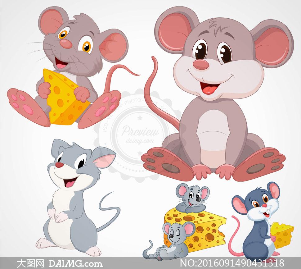 鼠动物矢量素材v2
