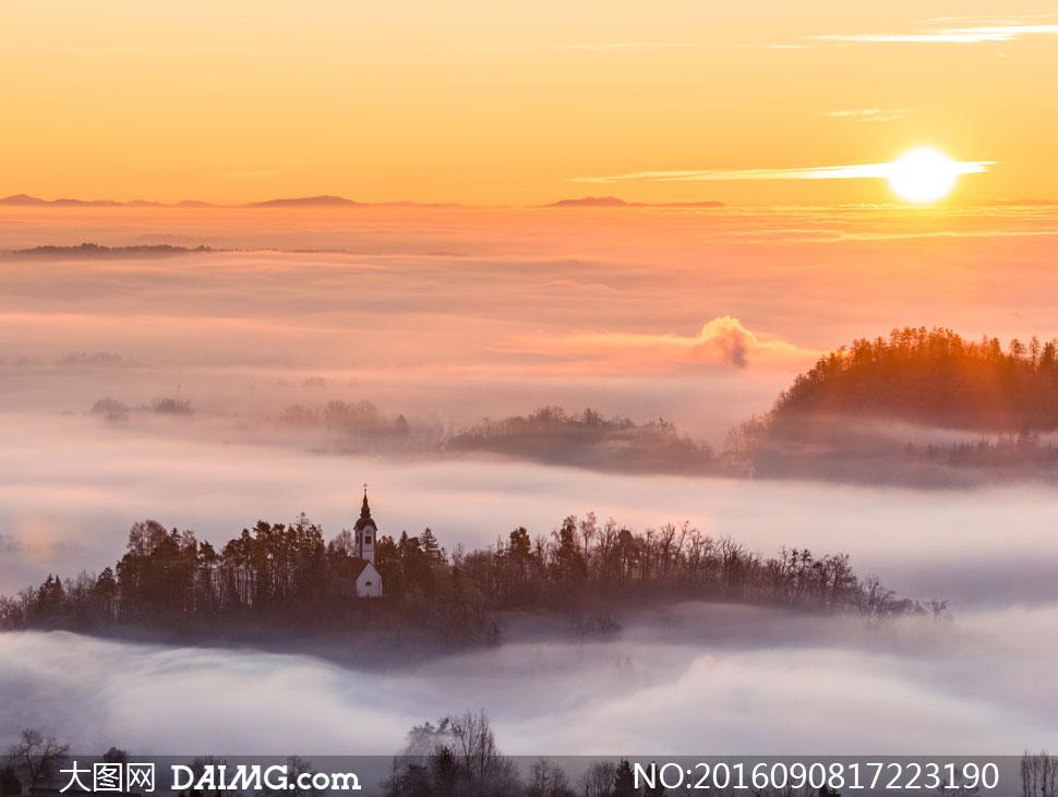 关 键 词: 高清摄影图片大图素材自然风景风光雾气云雾夕阳阳光云霞