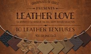 10张皮革皮具纹理背景图片素材