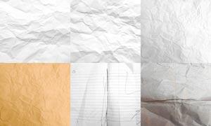 6张褶皱的纸张背景图片素材
